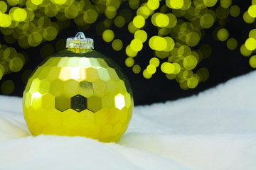 christmas ball on abstract light