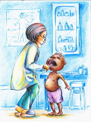 Doctor with boy.