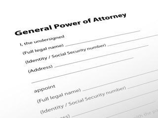 """""""General Power of Attorney"""" (legal document lawyer justice law)"""