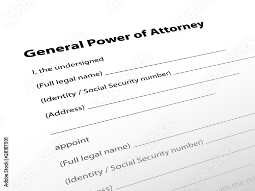 General Power Of Attorney Legal Document Lawyer Justice Law