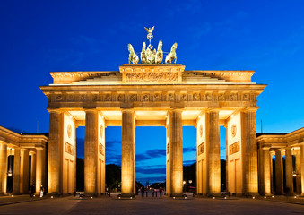Foto auf Leinwand Berlin Brandenburg Gate in Berlin