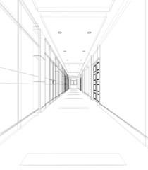 corridoio tunnel rendering