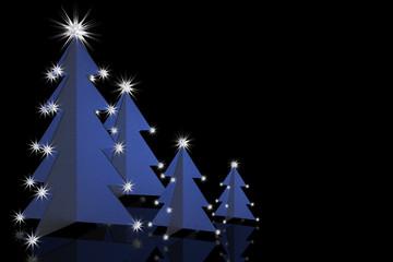 Weihnachtsbäume blau