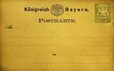 Postkarte Königreich Bayern