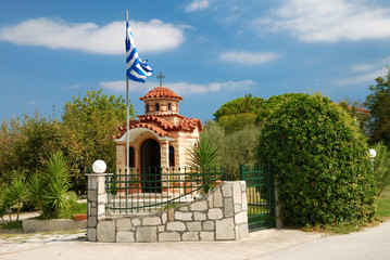 greek church on chalkidiki