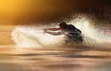 Waterskier waterskiing Wall mural