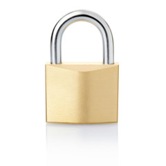 Padlock with clipping path