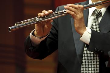 flutist on chamber music concert