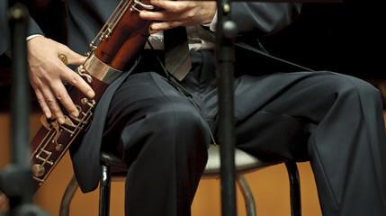 bassoonist on chamber music concert