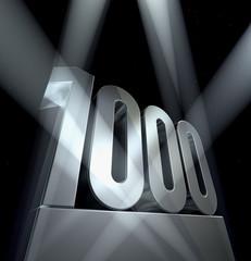 1000  thousand birthday celebration monument anniversary