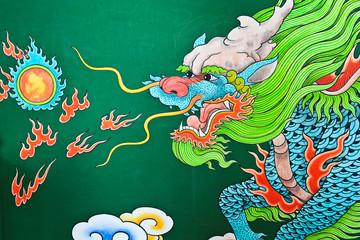 Mural Painting, Dragon.