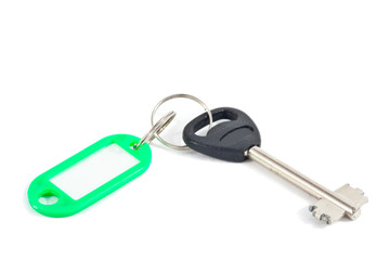 The key with label.