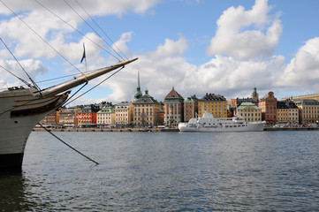 Stockholm with the ship