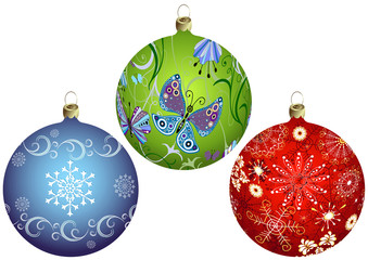 Deurstickers Bol Set Christmas`s balls
