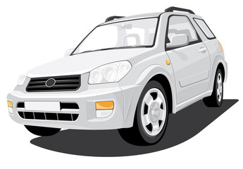 Vector isolated SUV
