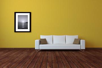 Sofa Rendering gelb
