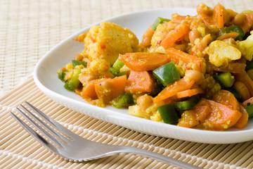 Afrikanisches Gemüse Gericht