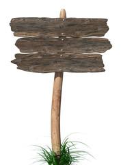 Vecchio cartello di legno