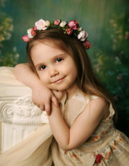 Elegant portrait of a sweet young girl