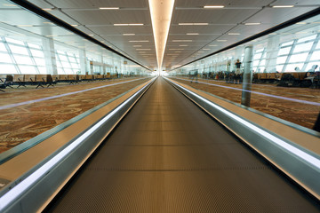international airport treadmill