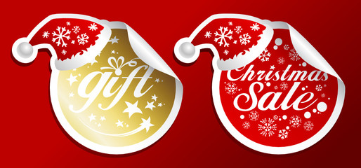 Holiday gifts stickers set.