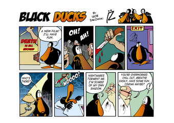 Fotorolgordijn Comics Black Ducks Comic Strip episode 63