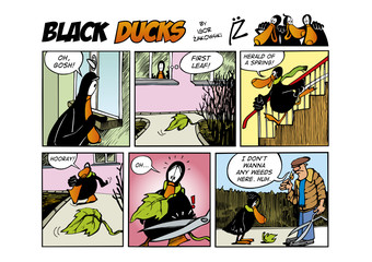 Garden Poster Comics Black Ducks Comic Strip episode 61