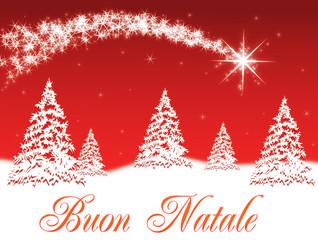 Sfondo Buon Natale rosso