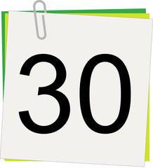 Calendario, Giorno 30