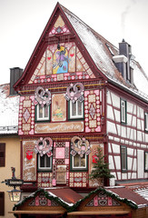 Historical half timbered house in Bad Wimpfen