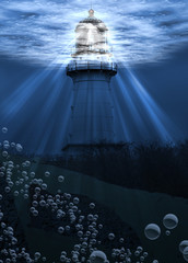 Under Water Lighthouse