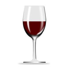 3d Icon Weinglas gefüllt