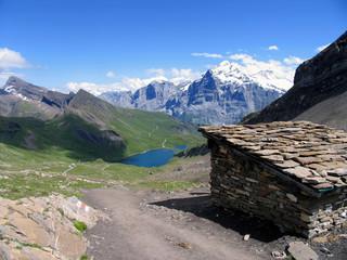 Swiss beauty, Wetterhorn above Bachalpsee from Gassenboden