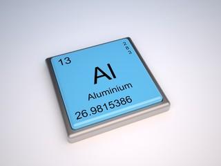 Aluminium chemical element of the periodic table with symbol Al