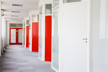 corridor in business center