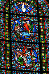 Foto op Plexiglas Stained France, vitraux de la collégiale de Poissy
