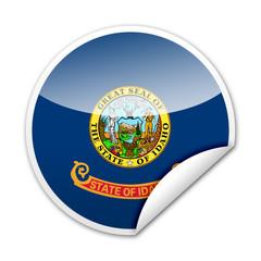 Pegatina bandera Idaho con reborde