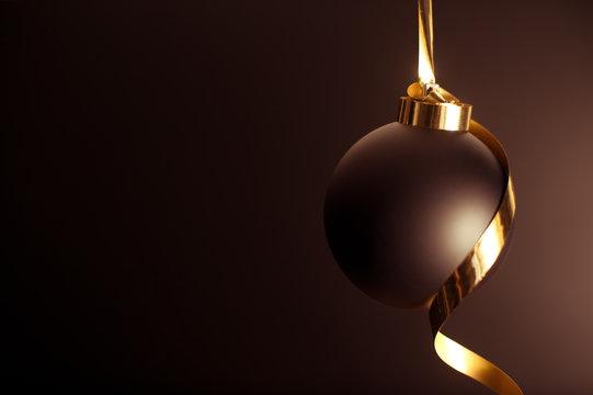 palla natale nera con fiocco oro
