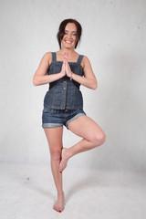 young woman doing yoga / pilates