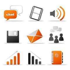 Iconset Kommunikation orange