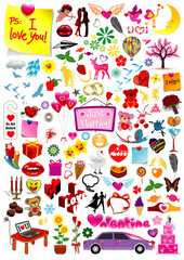 Vector love graphics collection