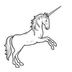 WEB ART DESIGN UNICORN LICORNE MIDDLE AGES 010