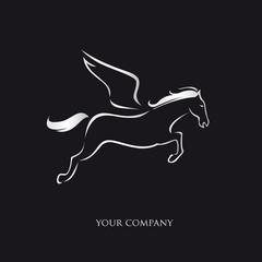 logo entreprise, pégase
