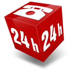 icon hotline 24h 3d button