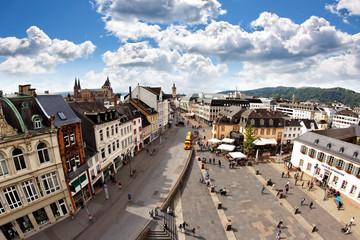 Blick auf Trier von der Porta Nigra
