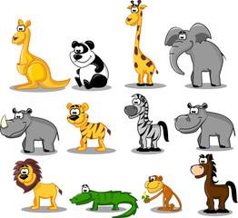 Printed roller blinds Zoo большой сет животных