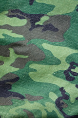 Camouflage fabric material background