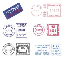bunch of european postmarks