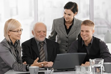 Smiling businessteam on meeting