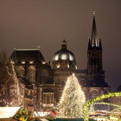Aachen, Dom und Weihnachtszeit